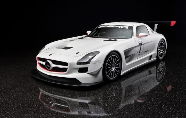 Picture white, Mercedes-Benz, SLS GTR