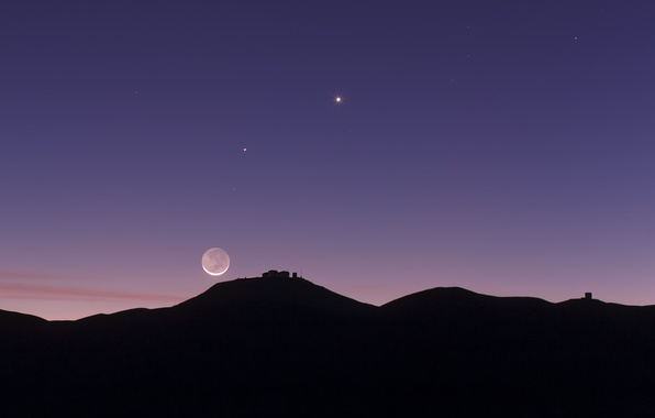 Picture stars, The moon, Jupiter, Venus