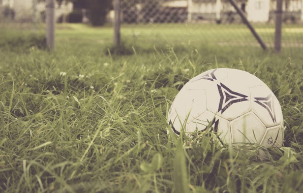 Picture grass, football, the game, the ball