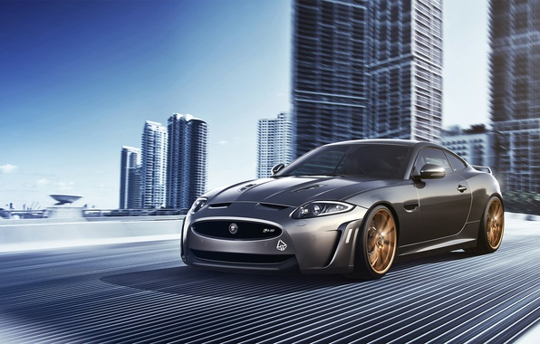 Picture Jaguar, City, Car, Speed, Front, Sport, Road, XKR-S