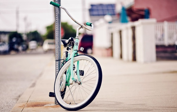 Picture bike, the city, background, mood, stay, Wallpaper, street, sport, blur, wheel, wallpaper, bicycle, different, widescreen, …