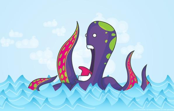 Picture figure, monster, vector, octopus, reckdesigns