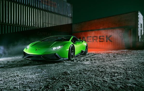 Picture machine, light, lights, tuning, Lamborghini, Spyder, the front, Novitec, Torado, Huracan, novitek
