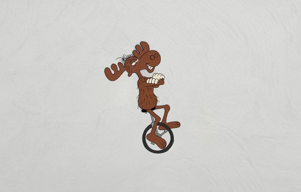 Picture animal, minimalism, horns, moose, dark background, The Rocky and Bullwinkle Show, The adventures of rocky …