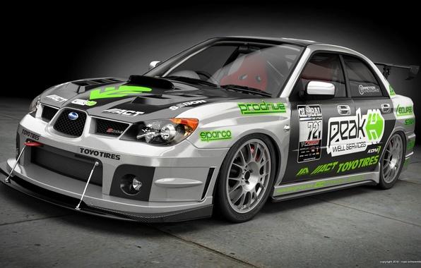 Picture Subaru, Impreza, art, WRX, front, Subaru, Impreza, race car, kit, STi