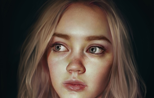 Picture look, girl, face, hair, beauty, art, blonde, anastasia