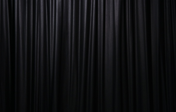 Picture black background, blind, curtain