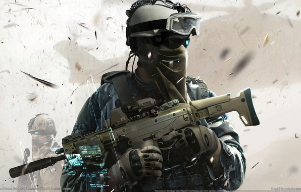 Picture weapons, helicopter, soldiers, hologram, the vest, squad Ghost, Ghost Recon: Future Soldier, Tom Clancy's