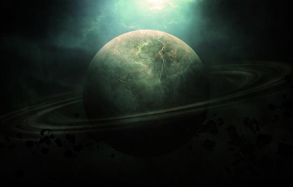 Picture space, Saturn, meteorites