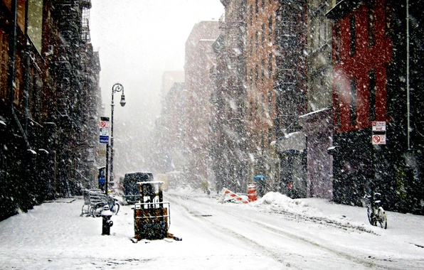 Picture Winter, New York, Snow, snowfall, Winter, New-York, snowfall, New-york under snow