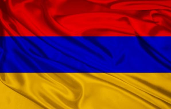 Picture Red, Blue, Flag, Orange, Armenia
