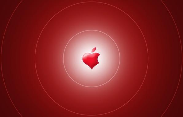 Picture Wallpaper, heart, apple, Apple, logo, brand