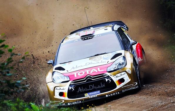 Picture Dust, Sport, Machine, Speed, Race, Citroen, Citroen, DS3, WRC, Rally, Rally, Kris Meeke