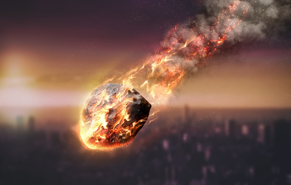 Picture fire, energy, atmosphere, meteorite, friction