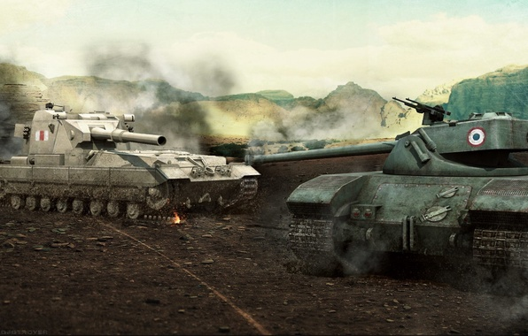 Picture France, tank, UK, tanks, France, WoT, World of tanks, United Kingdom, tank, World of Tanks, …