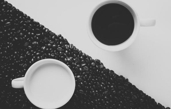Picture coffee, grain, milk, mugs