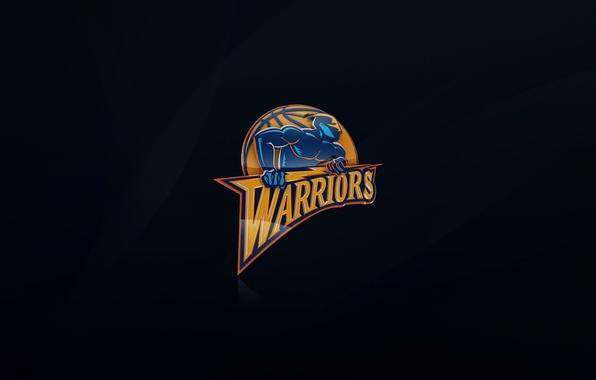 Picture Blue, Basketball, Background, Logo, NBA, War, Golden State Warriors, Golden state War