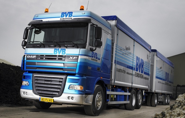 Picture Truck, Wallpaper, Truck, The trailer, Tractor, DAF, Trailer, Ixef, DAF, Train, 6x2, 105.410, XF105.410