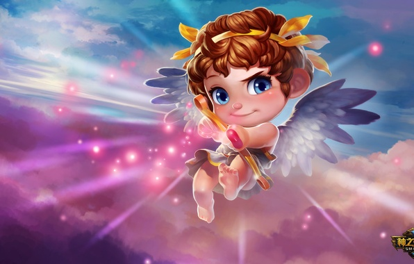 Picture weapons, the game, bow, arrow, heart, Cupid, cupid smite