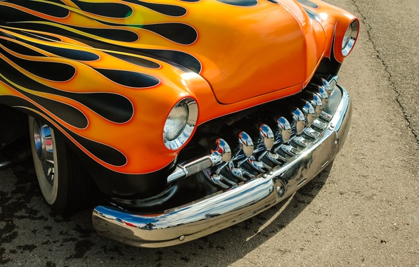 Picture design, retro, car, classic, the front