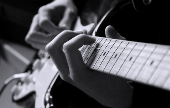 Picture the game, hand, six-string electronic guitar, six-string acoustic guitar, playing guitar