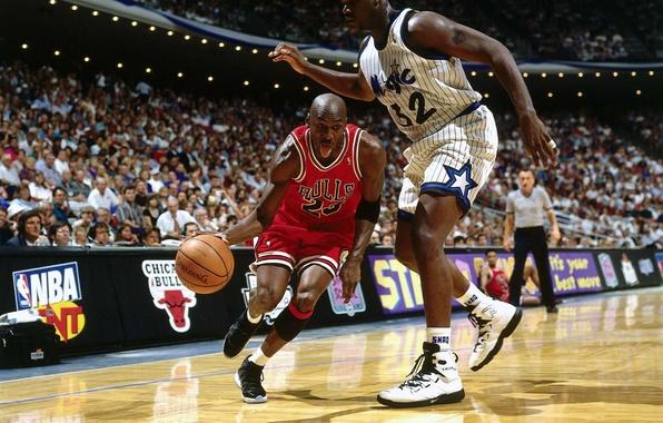Picture Michael Jordan, basketball, fans, NBA, Michael Jordan, basketball players, NBA, Orlando Magic, Shaquille O'neal, Orlando ...