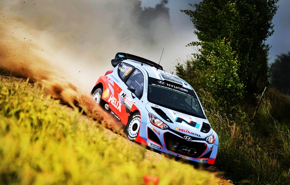 Picture Auto, Dust, Sport, Machine, Speed, Race, Skid, Day, WRC, Rally, Rally, i20, Hyundau