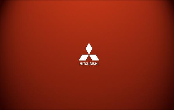 Picture Minimalism, Logo, Mitsubishi, Red, Logo, Brand, Car Brand