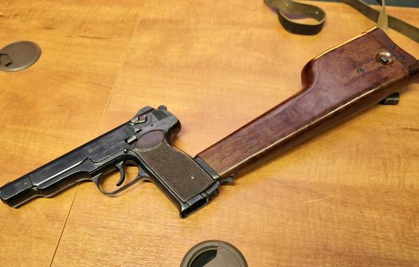Photo Wallpaper Holster Butt Stechkin Gun APS Automatic 9mm