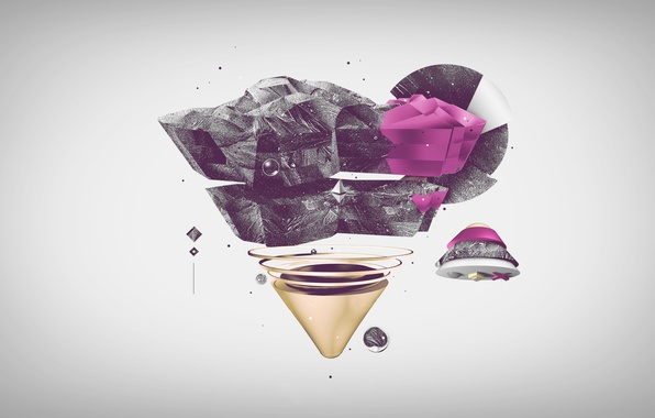 Picture black, pink, pyramid, triangle