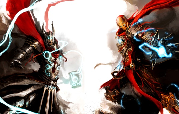 Picture iron man, marvel, Thor, medieval, marvel, thor, iron man, the Avengers, avengers, medieval