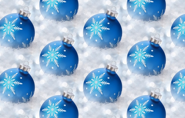 Picture balls, snowflakes, background, holiday, texture, New year, tinsel, Christmas balls