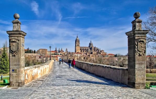 Picture home, Cathedral, Spain, Roman bridge, Salamanca
