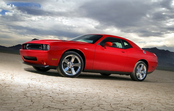 Picture red, Dodge, Challenger, car