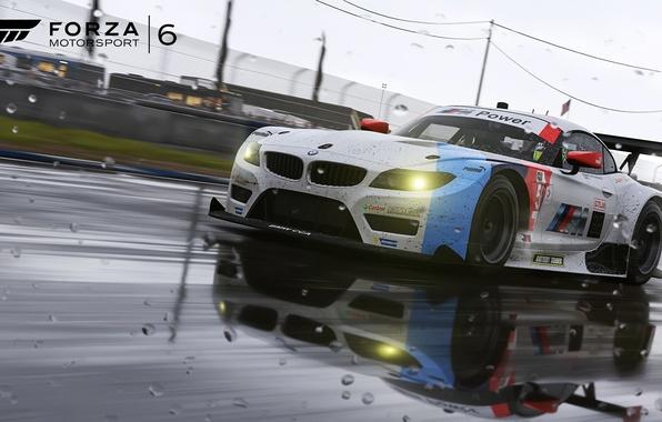 Photo Wallpaper BMW Rain Motorsport Game Forza Force 6