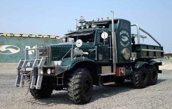 Picture tuning, truck, cars, KrAZ