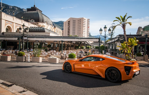 Picture orange, ST1, Zenvo, Monaco, orange, hypercar, Monte Carlo, hypercar