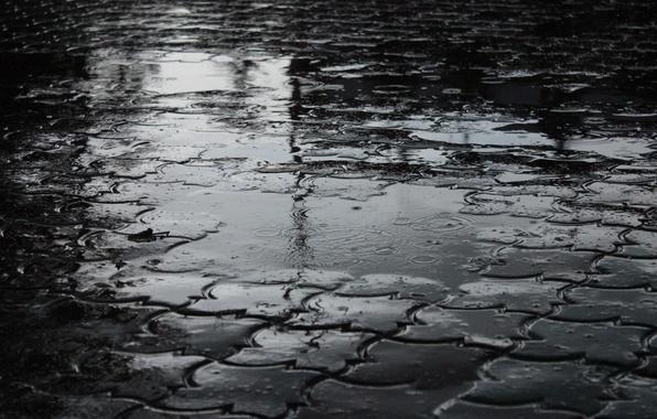 Picture rain, puddle, dark, h\b