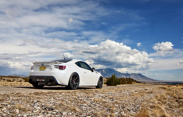 Picture the sky, clouds, nature, Subaru, white, white, Subaru, brz