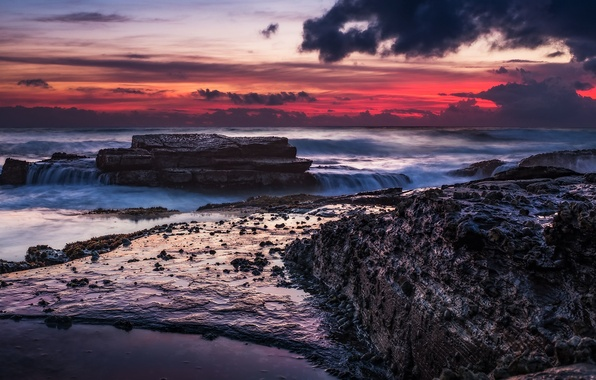 Wallpaper Sunrise, Sydney, Manly Beach Images For Desktop