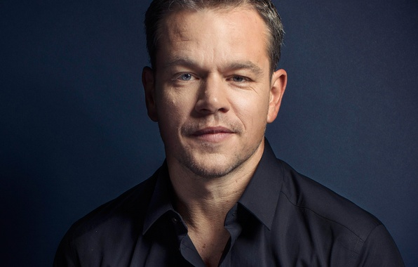 Picture portrait, photographer, actor, shirt, Matt Damon, photoshoot, Matt Damon, for the film, Toronto International Film ...