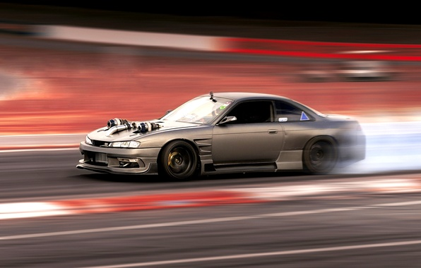 Picture Silvia, Nissan, race, S14, turbo, drag racing