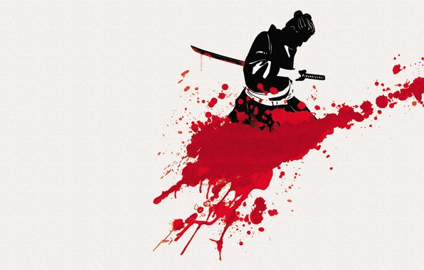 Picture background, sword, katana, samurai, male