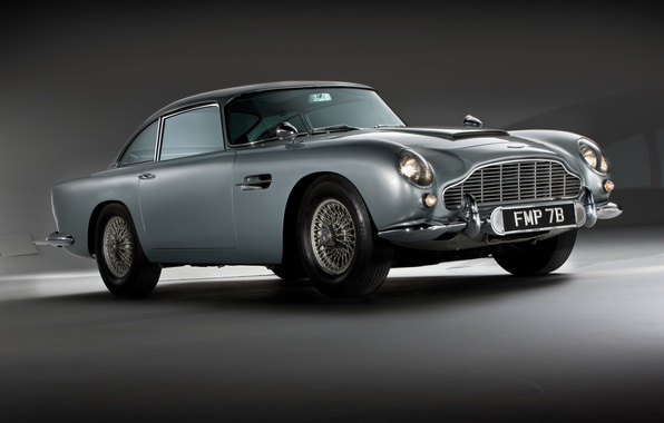 Picture Aston Martin, classic, 1964, DB5, the James bond car