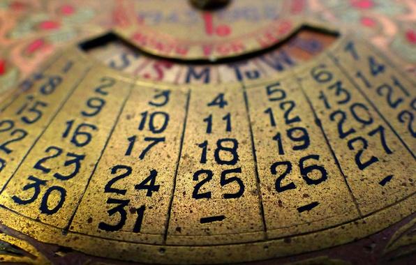 Virtual Calendar Wallpaper : Wallpaper vintage numbers around the house perpetual