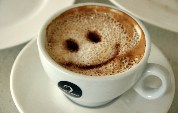 Picture Macro, Figure, Coffee, Smile, Drink, Cappuccino