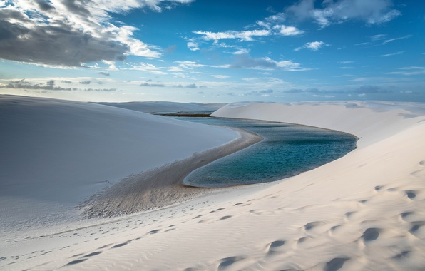Picture sand, the sky, water, Brasil, Maranhão