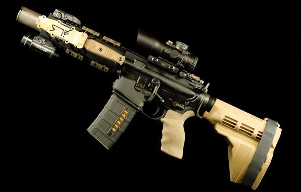 Picture wallpaper, gun, weapon, rifle, assault rifle, AR-15, AR 15, AR15, carbine, Armalite, hd, 4k, Eugene …