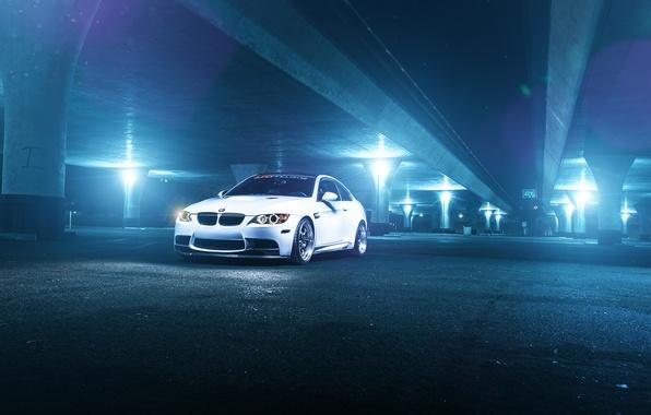 Picture white, bridge, BMW, BMW, before, white, front, E92