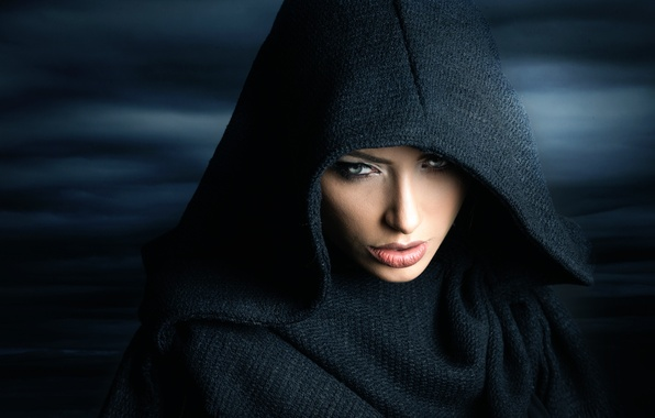 Picture look, girl, hood, Joachim Bergauer, Cold Days